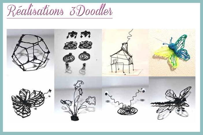 Réalisations 3doodler stylo 3D