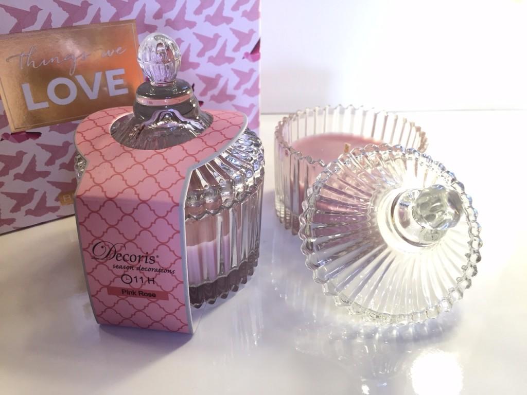 Alinéa, Bougie Decoris - Pink Rose
