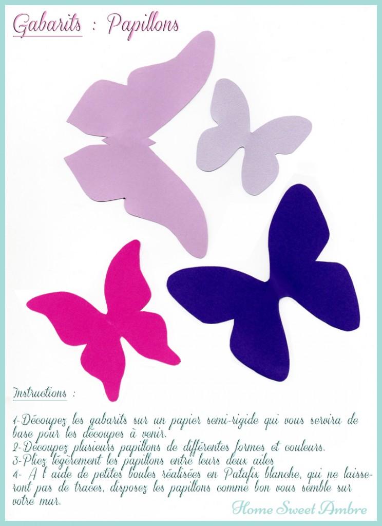 gabarits papillons murs