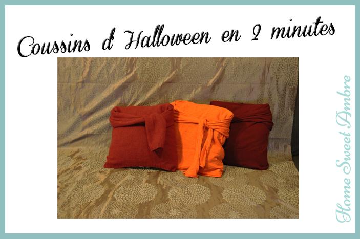 Halloween coussins facile et rapide - homesweetambre.com