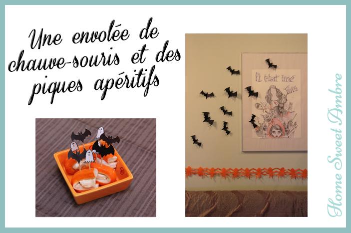 Halloween une envolée de chauve-souris et des piques apéritifs - homesweetambre