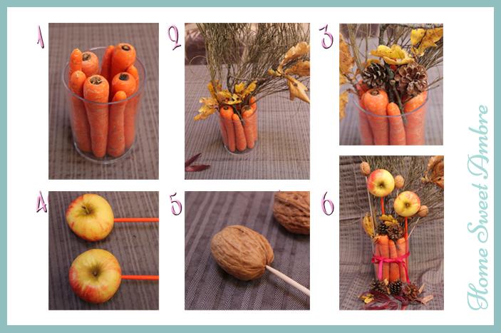 halloween bouquet centre de table d'automne réalisation 2 - homesweetambre