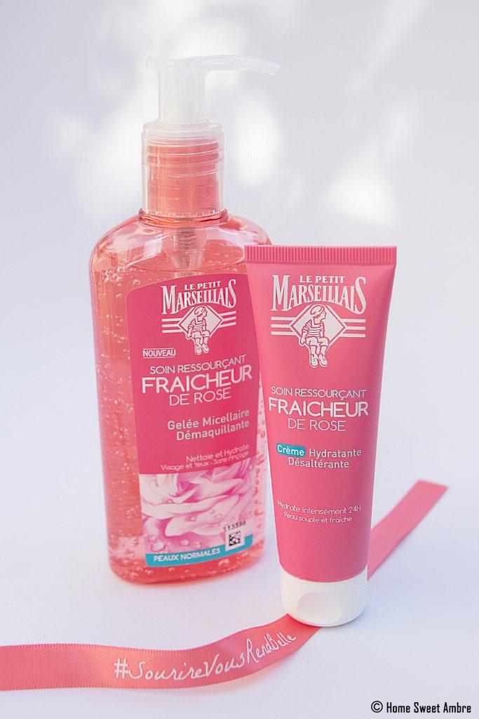 Soins ressourçants Fraicheur de rose Le Petit Marseillais