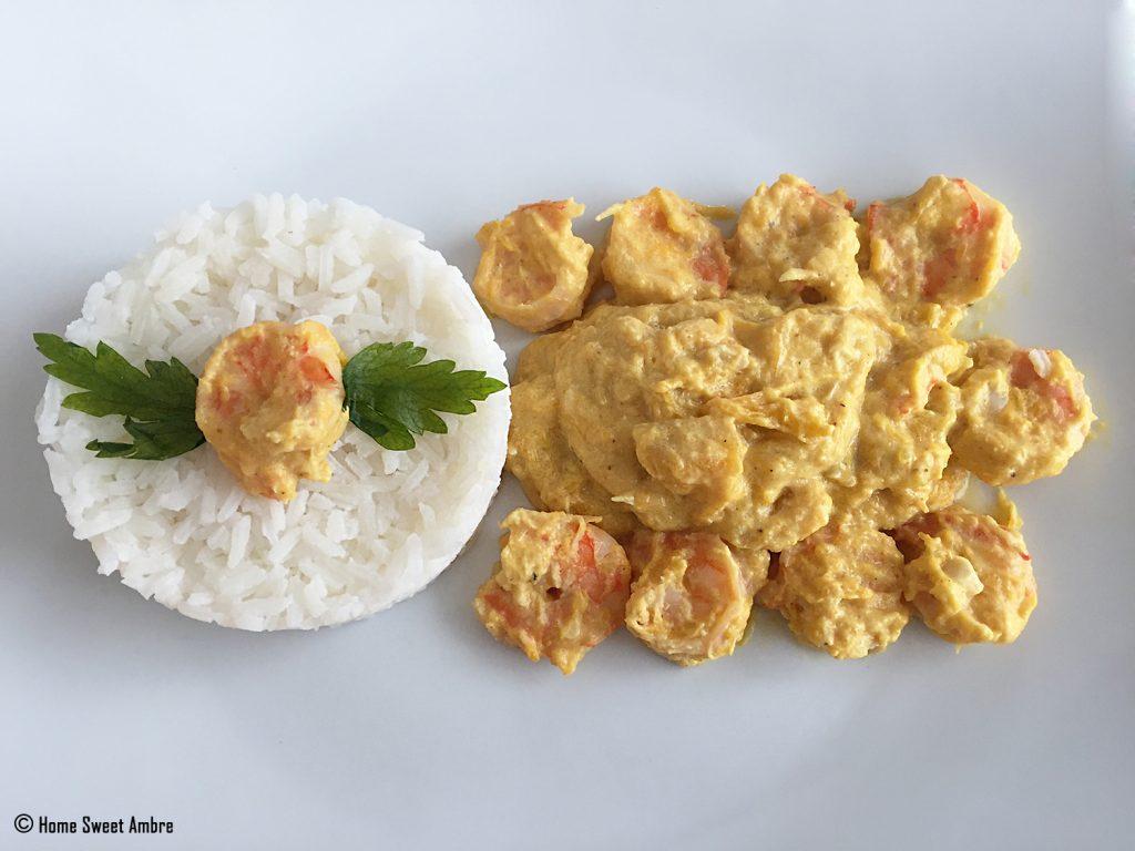 Recette crevette coco citrouille ou butternut