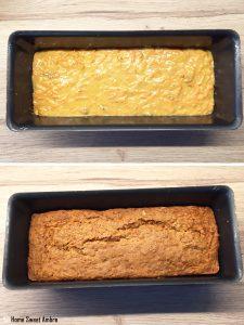 cuisson cake aux carottes et aux noix