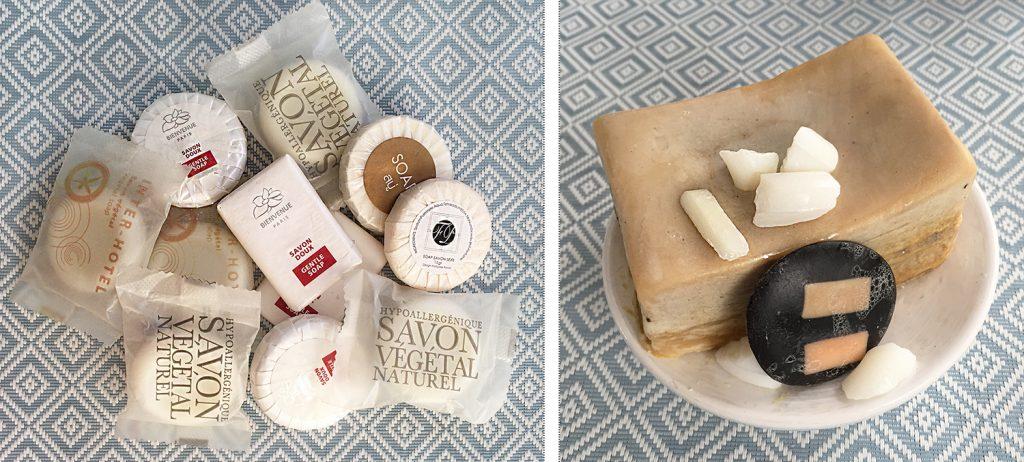 les restes de savons