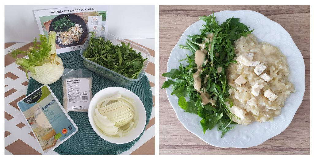 Riz crémeux au gorgonzola