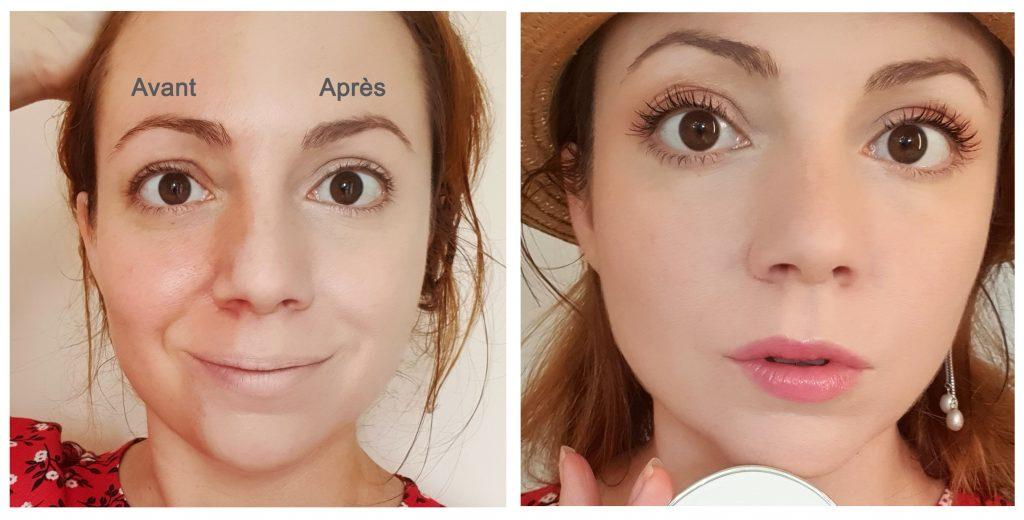 Avant Après Bibi Nova de Mi-Rê cosmetics par Home Sweet Ambre